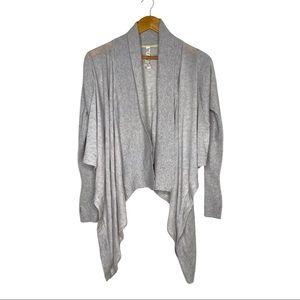Lululemon Light Grey Silk and Cashmere Blend Cardigan Wrap Sweater Size 6